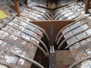 For example, at the top of this floor, the port side of the boat is about 25mm wider than the starboard. And it must have been like that since build